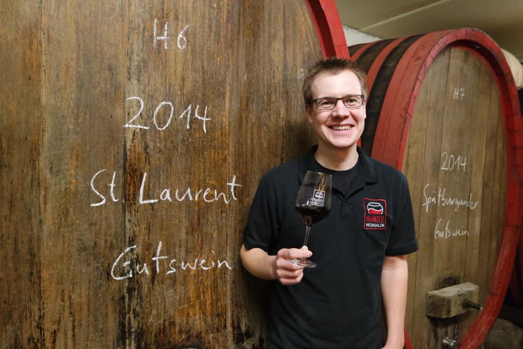Christian Braunewell vom renommierten Essenheimer Weingut Braunewell zählt zu den Gründungsmitgliedern des Weinsalons.