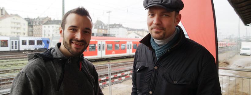 Florian Hupf, Community-Manager im Coworking-M1, und Thomas Hahner, Initiator, Projektleiter und Vorstand der Synthro eG