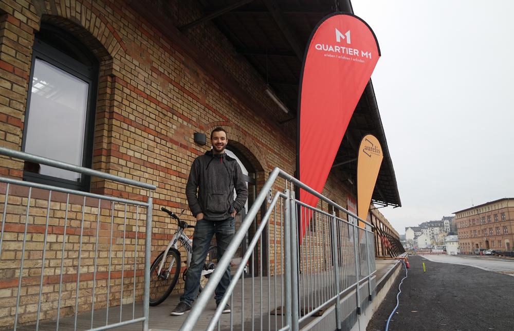 Florian Hupf ist der Community-Manager im Coworking-M1 und Ansprechpartner bei allen Fragen.