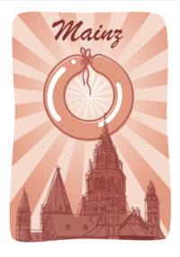Gruß- und Postkarten zu Mainz